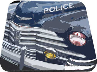 Old Chevrolet Police Patrol Car Mouse Pad