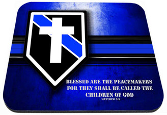 Thin Blue Line Blessed Are The Peacemakers Mouse Pad