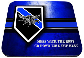 Thin Blue Line SWAT Mess With The Best Mouse Pad