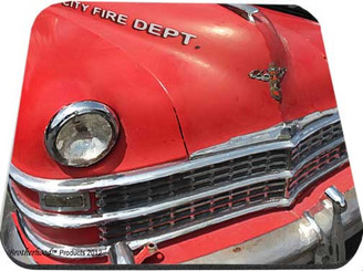 Old City Fire Department Car Mouse Pad
