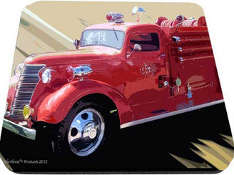 Old Fire Truck Mouse Pad