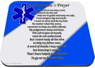 Paramedic's Prayer Star of Life Mouse Pad