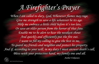 A Firefighter's Prayer Black & Red Posters in assorted sizes