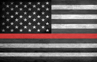 Thin Red Line American Flag 11x17 Poster