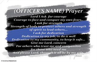 "Personalized Police Officer's Prayer 11x17, 8"" x 10"", 24"" x 36"" Poster"