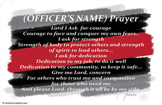 Personalized Fire Fighter's Prayer Poster available in 3 different sizes.