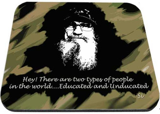 Uncle Si Educated & Unducated Mouse Pad