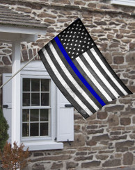 Thin Blue Line Subdued American Flag.