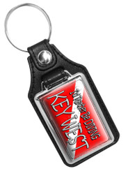 I'd Rather Be Diving Key West Design Faux Leather Key Ring