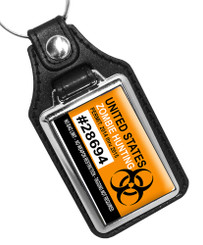 United States Zombie Hunting Permit Faux Leather Key Ring