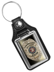 United States Marines Military Police Badge Faux Leather Key Ring