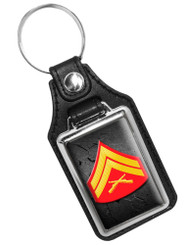 United States Marine Corporal Rank Faux Leather Key Ring
