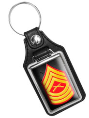 United States Marine Sergeant Rank Faux Leather Key Ring