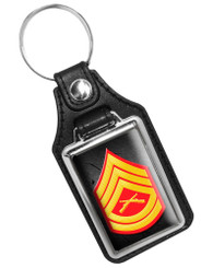 United States Marine Gunnery Corporal Rank Faux Leather Key Ring