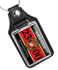 United States Marine Corps MOS 2300 Bomb Squad Faux Leather Key Ring