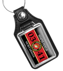 United States Marine Corps MOS 0341 Mortarman Key Ring