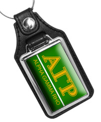 Alpha Gamma Rho Fraternity Faux Leather Key Ring