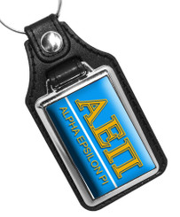 Alpha Epsilon Pi Fraternity Faux Leather Key Ring