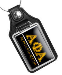 Alpha Phi Alpha Fraternity Faux Leather Key Ring