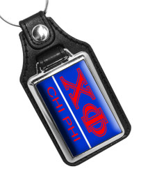 Chi Phi Fraternity Faux Leather Key Ring