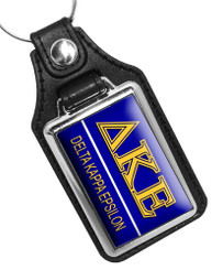 Delta Kappa Epsilon Fraternity Faux Leather Key Ring