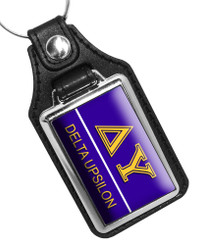 Delta Upsilon Fraternity Faux Leather Key Ring