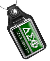 Delta Sigma Phi Fraternity Faux leather Key Ring