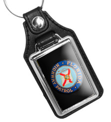 Florida Highway Patrol Simu-Leather Key Ring, Active or Retired