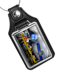 Scarsdale Police Department Motors Unit New York Faux Leather Key Ring