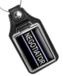 Negotiator Hostage Negotiation Faux Leather Key Ring