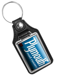 1968 Plymouth roadrunner Emblem  Faux Leather Key Ring