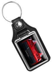 Corvette Tail Light  Faux Leather Key Ring