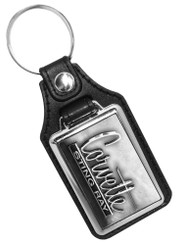 Corvette Sting Ray Emblem Faux Leather Key Ring