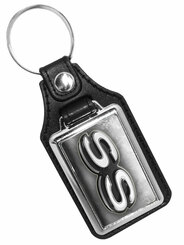 Chevy Super Sport Emblem  Faux Leather Key Ring