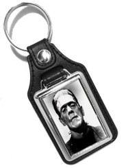 Boris Karloff Frankenstein Monster Design Faux Leather Key Ring
