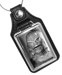 Creature from the Black Lagoon Monster Design Faux Leather Key Ring