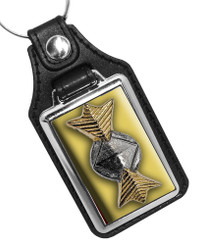 Star Trek Commodore Rank Insignia Faux Leather Key Ring