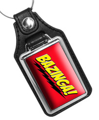 Bazinga Big Bang Theory Faux Leather Key Ring
