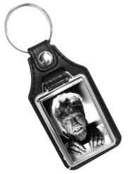 The Wolfman Monster 1940 Faux Leather Key Ring