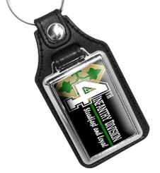 4th Infantry Steadfast and Loyal Faux Leather Key Ring