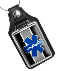 EMS Star of Life Emblem Faux Leather Key Ring