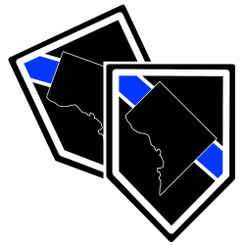 State of Washington Thin Blue Line Police Decal (Sticker) - Pack of 2 Decals