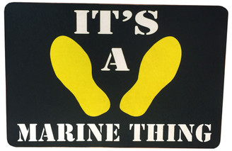 It's A Marine Thing - Those Yellow Foorprints Door Mat Rug