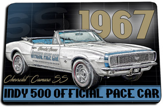 1967 Chevrolet Camaro SS Official Indy Pace Car Door Mat Rug
