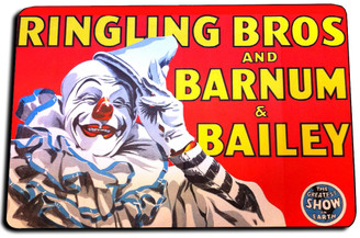 Ringling Bros & Barnum & Bailey The Greatest Show Door Mat Rug