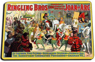 Ringling Bros Joan of Arc Door Mat Rug