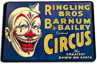 Ringling Bros And Barnum Bailey Combined Circus Door Mat Rug