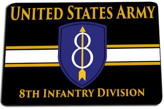 8th Infantry Division Door Mat Rug