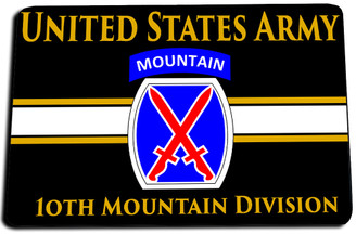 10th Mountain Division (Light Infantry) Door Mat Rug