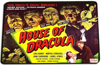 House of Dracula Door Mat Rug